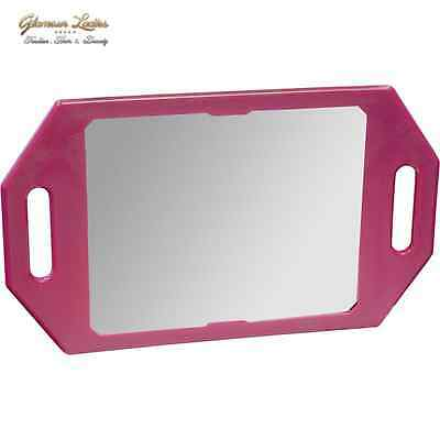 Professional Salon Mirror Fuchsia Colour Double Handles Kodo Brand With Logo