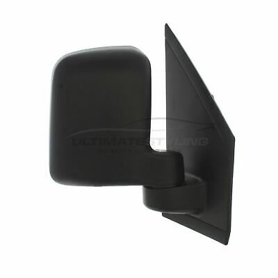 Ford Transit Connect 2002-2013 Door Wing Mirror Manual Black O/S Driver Right
