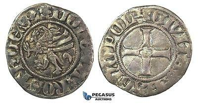 J36, Germany, Rostock City, Witten ND (Before 1379) Silver (1.11g) Jesse 307 RR,