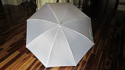 "White 60"" Wedding, Golf, Photo Shoot or Rain Polyester Manual Open Umbrella"