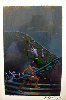 Richard Hescox Book Cover Preliminary Painting Fortune For Kregan