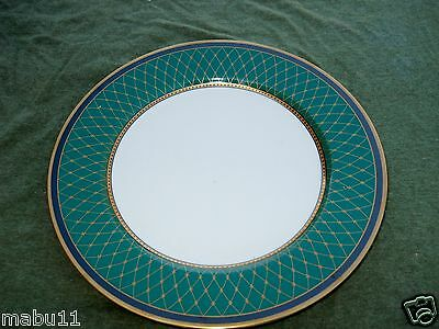 FITZ & FLOYD CHAUMONT TEAL GREEN BREAD PLATE