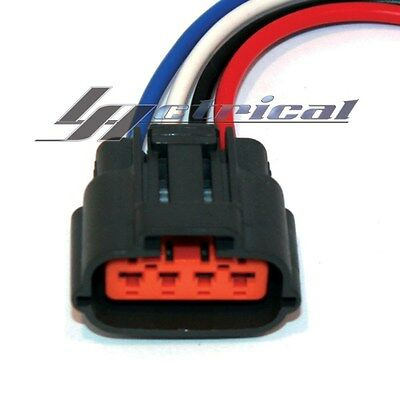 New Repair Plug Harness 4 Wire Pin Pigtail Connector For Mitsubishi Alternator