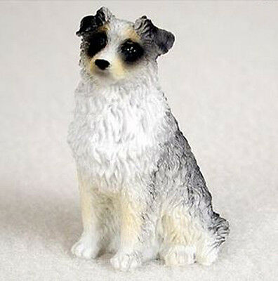 AUSTRALIAN SHEPHERD AUSSIE BLUE TINY ONES DOG Figurine Statue Pet Gift Resin
