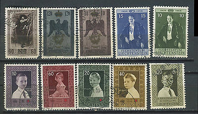 Liechenstein 1954-1957 issues used selection