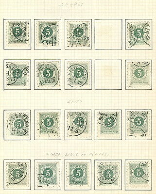 SWEDEN SPECIALIZED RINGTYPE COLLECTION used - 735 on pages Scott $4,930.00++
