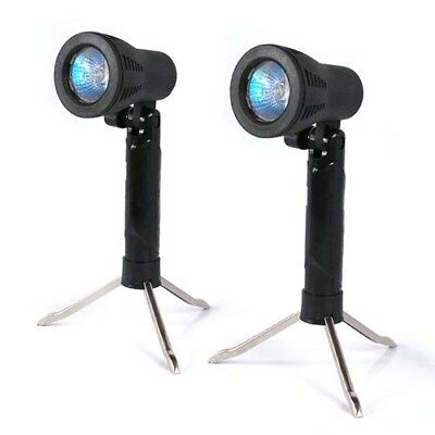 2 Pcs Photo Studio Table Top Light Lamp w/ Bulbs Stand for Soft Box Photography