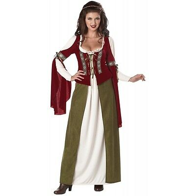 Maid Marian Costume Adult Halloween Fancy Dress