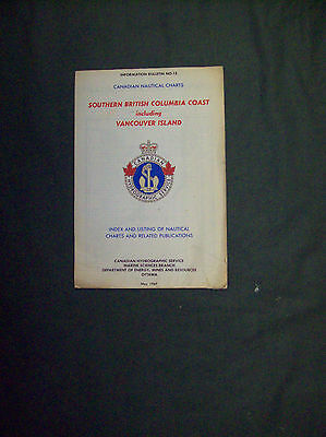 SOUTHERN BRITISH COLUMBIA COAST INCLUDING VANCOUVER IS NAUTICAL CHART 1967 sale