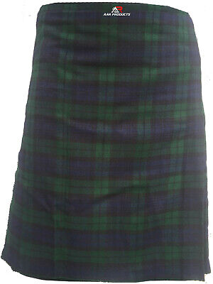 New Men's Scottish Black Watch Kilt 5 Yard Acrylic Highland Wear in all sizes