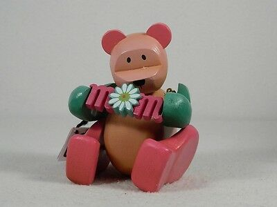 """Pozy Bears """"Sentiments"""" Mom Is Love-Bear With Sign Figurine #321010 New In Box"""