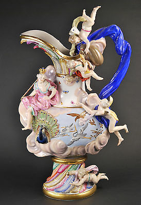 Antique Meissen Porcelain Ewer  AIR from Elements Series , pitcher, vase