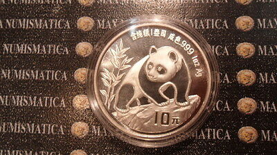 China Cina 10 Yuan 1990 Argento Silver Proof