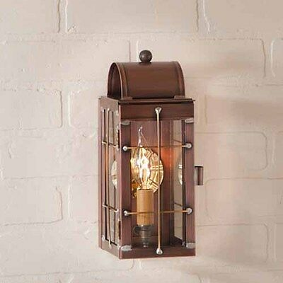 Cape Cod Outdoor Wall Lantern in Solid Antique Copper
