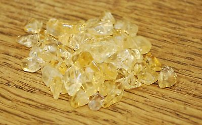 "CITRINE SMALL TUMBLE CHIP BEADS - 50 BEADS or 36"" STRING"