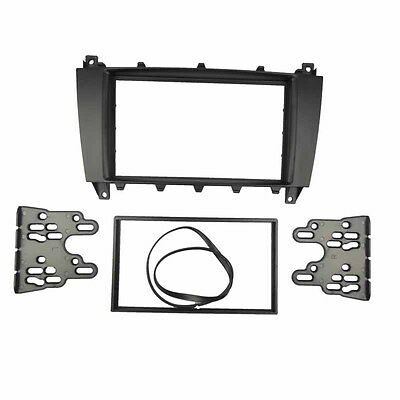 Double Din Radio Stereo Panel For BENZ C CLASS W203 Dash Installation Trim Kit