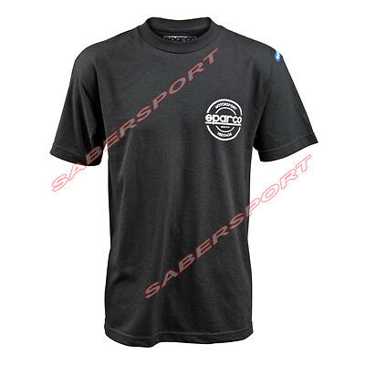 """""""in Stock"""" Authentic Sparco Apparel """"seal"""" T-Shirt Black - Size- Small"""