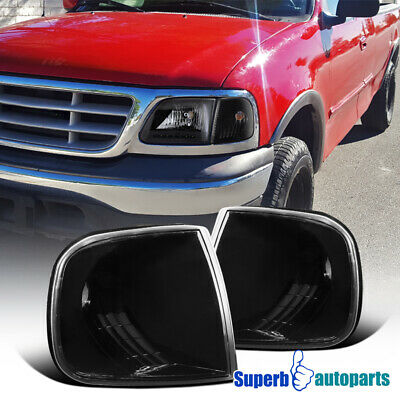 1997-2003 Ford F150/ Expedition Corner Lamps Turning Signal Park Lights Black