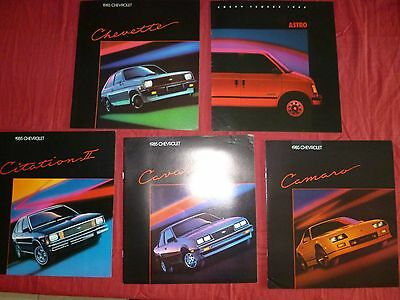 N° 2007 /  5 catalogue CHEVROLET 1985 Citation II/Cavalier/Chevette/Camaro/Astro