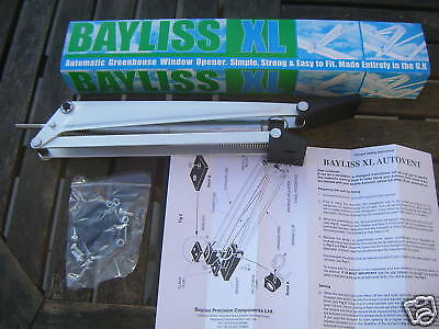 3 x Bayliss XL Autovent Automatic Greenhouse Window Roof Vent Opener Auto Vent