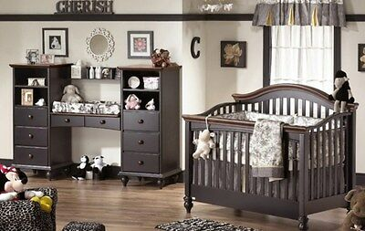 Natart Chelsea Collection Convertible Baby Nursery To Kids Bedroom Set
