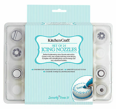 KitchenCraft - 'sweetly does it' SET OF 24 ICING NOZZLES