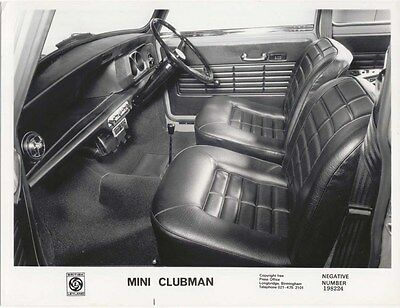 Mini Clubman Interior view original b&w Press Photograph No. 198224
