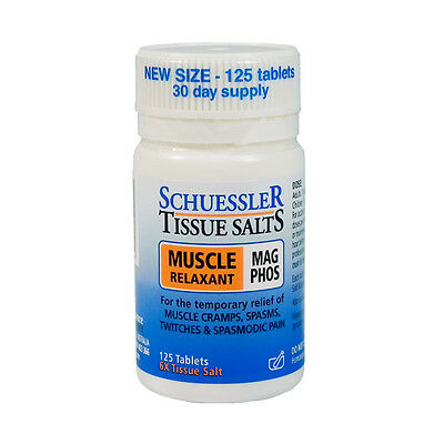 SCHUESSLER Tissue Salts Mag Phos 125 tablets nerve muscle relaxant cramps spasms