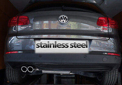 Vw Tiguan Chrome Exhaust Tailpipe Stainless Steel 2 Pieces