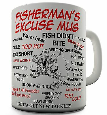 Fisherman's Excuse funny Joke Mug
