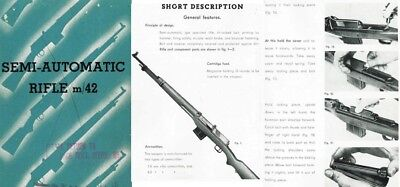 Ljungman c1960 Ag M42 Semi-Automatic Rifle Manual by IGAB Sweden