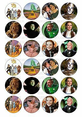 24 Wizard of Oz Wafer / Rice Paper Cupcake Topper  Fairy Cake Bun Toppers