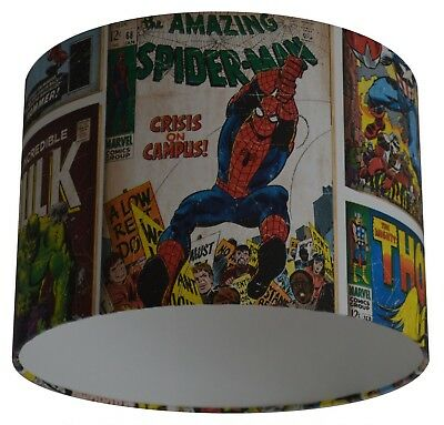 Marvel Comic Action Heroes Spider-man The Hulk Thor Handmade Wallpaper Lampshade