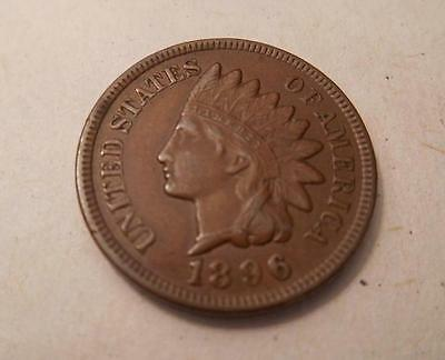 1896 Indian Head Penny- Rich Brown Tone -  4 Diamonds (IHP201496)**SPECIAL**