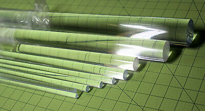 "12 Pcs 1/4"" DIAMETER 18"" LONG CLEAR ACRYLIC PLEXIGLASS LUCITE PLASTIC ROD .25"""