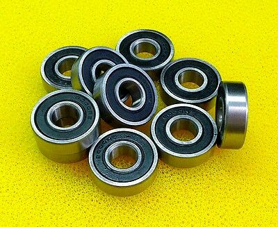 10 PCS - 6203-2RS (17x40x12 mm) Rubber Sealed Ball Bearings (BLACK) 6203RS