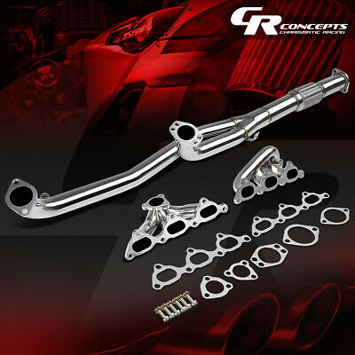 For 91-99 3000Gt Gto -96 Stealth Turbo Stainless Exhaust Manifold Header+Gasket