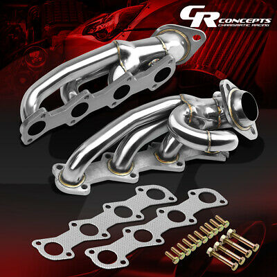 FOR 04-08 FORD F150 PICKUP 4.6L V8 STAINLESS EXHAUST MANIFOLD HEADER+GASKET/BOLT
