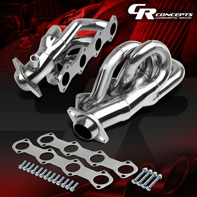 FOR 97-03 FORD F150/LOBO PICKUP 4.6 V8 STAINLESS EXHAUST MANIFOLD HEADER+GASKET