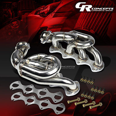 FOR 05-10 FORD PONY MUSTANG 4.6L V8 STAINLESS EXHAUST MANIFOLD HEADER+GASKET