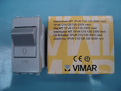 VIMAR 20405.10.N Next Interruttore Magnetotermico automatico 1P+N C10