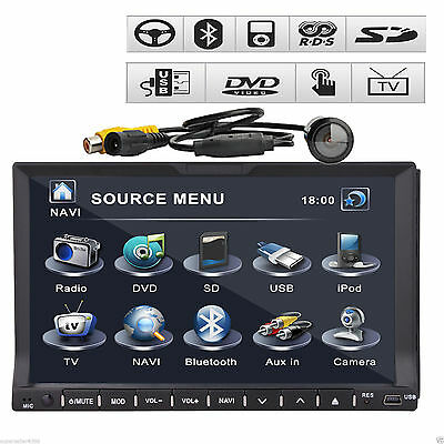 "Ouku HQ 2Din 7"" HD Car Stereo Radio DVD Player In Dash Ipod  BT Touch Screen+Cam"