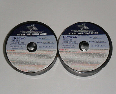 """.030"""" ER-70S-6 Carbon Steel Mig Wire - 4 pounds (2x2lbs)"""
