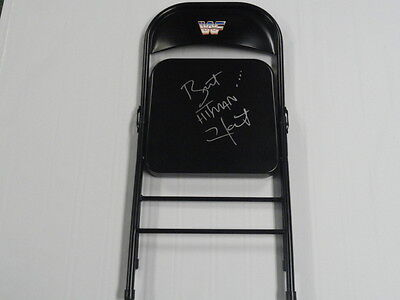 Bret The Hitman Hart Signed Steel Chair Wwf Wwe Exact Proof Autographed