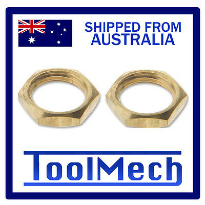 """2Pc Brass 1/4"""" Bsp Lock Nut Air Fitting Hex Free Shipping Best Quality"""