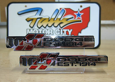 Dodge Challenger Charger 100th Anniversary Decal Emblem Nameplate Set of 2 OEM