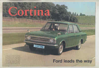 1969 Ford Cortina 1600XL Super Deluxe Brochure Poster England wu1437