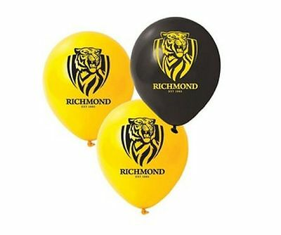 1 x RICHMOND TIGERS AFL TEAM  LATEX BALLOON