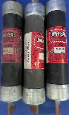 Bussmann Low-Peak Lps-Rk 100, Class Rk1 Type D 600V Fuse, Lots Of 3 *pzb*