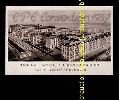 CPC Convention BERLIN-NEUKÖLLN National Krupp Registrier Kassen * Werbe-AK